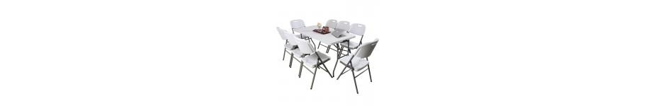 Sulankstomi stalai ir suolai