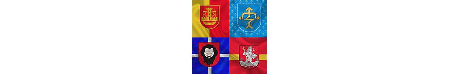 Miestų, regionų vėliavos