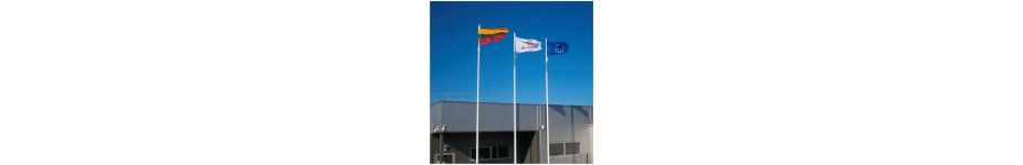 Stiklo pluošto vėliavų stiebai