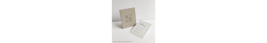 Dekoratyvinio, tekstūrinio popieriaus kvietimai