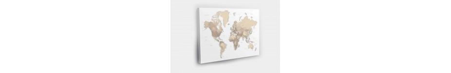 Pasaulio žemėlapiai ant drobės